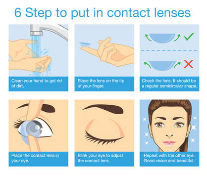 how to wear invisible ink contact lenses